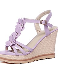 Women's Shoes Wedges Heels/Sling back/Open Toe Sandals Dress/Casual Blue/Pink/Purple/White