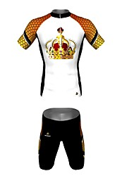 MYKING Men's Cycling Bike Short Sleeve Clothing Set Bicycle Wear Suit Jersey and Shorts CROWN