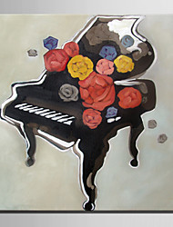 Mini Size E-HOME Oil painting Modern Piano Pure Hand Draw Frameless Decorative Painting
