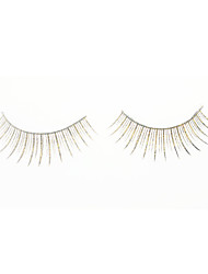 Cool Flower Golden Flash False Eyelashes (Pair)