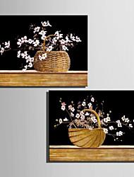 mini tamaño de la pintura al óleo e-hogar moderno de la cesta de flores dibujar a mano puro pintura decorativa sin marco