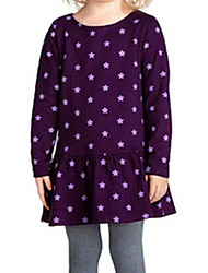 Girl's Purple Dress,Ruffle Cotton Summer / Spring