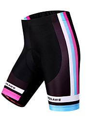 Wosawe® Cycling Padded Shorts Women's Breathable / Quick Dry / Windproof / Limits Bacteria / 3D Pad BikeShorts / Padded Shorts/Chamois /