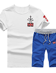 2016 summer new T-shirt and casual sportswear XL fertilizer youth male edition T-shirt five pants tide