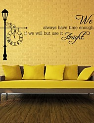 We Always Have Time Enough Clock Wall Stickers Home Decorations Living Room Design Home Sticker Removable