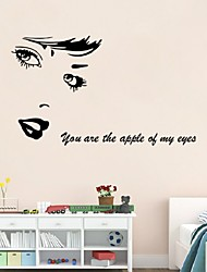 Sexy Girl Lip Eyes Wall Stickers Living Bedroom Decoration  Diy Vinyl Adesivo De Paredes Home Decals Mual Art Posters