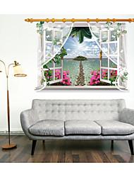 ботанический / Натюрморт / Цветы / Пейзаж Наклейки 3D наклейки,pvc 90*60CM