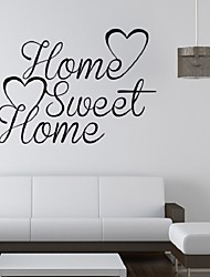 Art Sweet Home Wall Stickers For Windows Dining Room Kid Room Girl Room Decorations Wall Decals