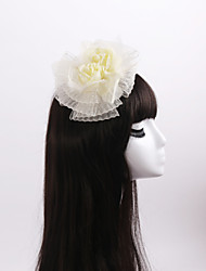 Women's / Flower Girl's Feather / Organza / Fabric Headpiece-Wedding / Special Occasion / Casual Flowers 1 Piece