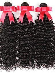 "3 Bundles Brazilian Water Wave Black 10""-30"" 100% Human Hair Weaves Brazilian Virgin Hair Water Deep Wave"