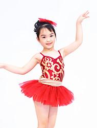 Vestidos(Verde / Borgoña,Poliéster / Lentejuela / Tul / Licra,Ballet / Danza Moderna / Desempeño) -Ballet / Danza Moderna / Desempeño-