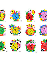 Colorful Clock 12 Style Learning Teaching Gadgets & Gifts Education Handmade Articles Kids Hobbies Toys 3D Puzzle DIY