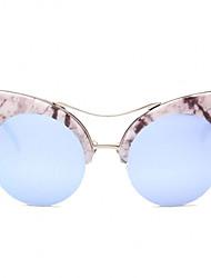 Sonnenbrillen mujeres's Modern / Modisch Katzenauge Silber / Gold Sonnenbrillen Vollrandfassung