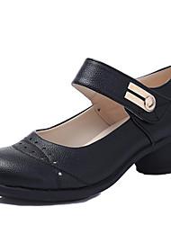 Chaussures de danse(Noir / Marron / Rouge / Blanc) -Non Personnalisables-Talon Cubain-Cuir-Baskets de Danse / Moderne