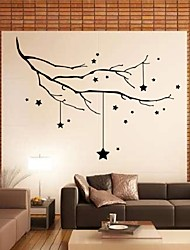 New Christmas Stars Branch Christmas Tree Deer Wall Stickers X Mas Wall Decor Wall Pvc Stickers Christmas Design Decal