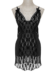 Women Plus Size Lace/Mesh Babydoll & Slips Nightwear