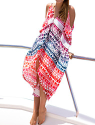 Women's Bohemiane Fashion Beach Cover-Ups , Chiffon / Polyester