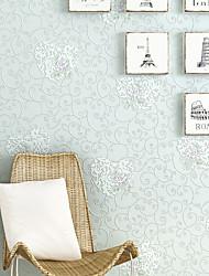 Floral Papel de parede Contemporâneo Revestimento de paredes,Papel não tecido 0.52mm