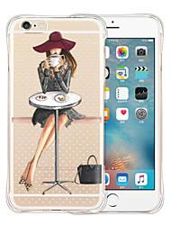Pour Coque iPhone 5 Antichoc Transparente Motif Coque Coque Arrière Coque Femme Sexy Flexible Silicone pour iPhone SE/5s/5