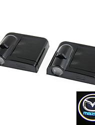 2x branco para a porta do carro sem fio Mazda levou projeção projetor luz de cortesia fantasma
