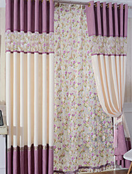 Two Panels Floral Living Room Panel Curtains Drapes