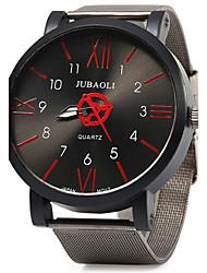 JUBAOLI Муж. Модные часы Кварцевый Крупный циферблат Нержавеющая сталь Группа Винтаж Cool Черный