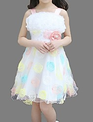 Girl's Green / Pink Dress,Lace Cotton Summer