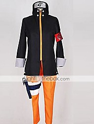 Inspired by Naruto Naruto Uzumaki Anime Cosplay Costumes Cosplay Suits Patchwork Black / Orange Top / Pants / Headpiece / More Accessories