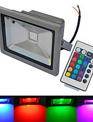20W Focos de LED 1 COB 1500-1600 lm Branco Quente / Branco Frio / RGB Controle Remoto / Impermeável AC 85-265 V 1 pç