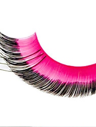 Stage Artistic Exaggeration Handmade Extended Black and Rose Length Swallow Tail  False Eyelashes  For Party Halloween