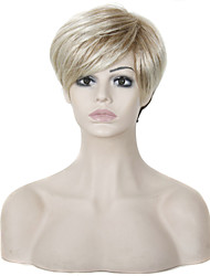 6 Inch Short Lady Hairstyle Short Straight Blonde Wig Synthetic Hair Wigs