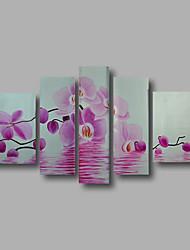 """растянуты (готов повесить) ручной росписью маслом 66 """"x40"""" холст стены искусства современные цветы розовые орхидеи"""