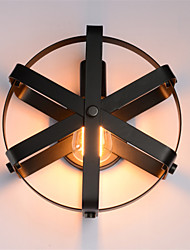 New Max 60W Vintage Style Industrial Round Wall Sconce balcony Loft  Entry Hallway Bedroom Wall Lamp