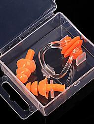 bouchons d'oreilles de matériaux de silicone / pince-nez pour la plongée / natation bleu, jaune, orange, vert