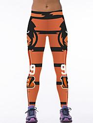 De las mujeres Pantalones Deportivo-Activo Microelástico-Poliéster