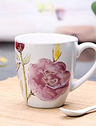 500 ml de alta capacidade pintados à mão marca de xícara de cerâmica de personalização de processamento dom produção copo loiças