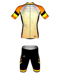 MYKING Men's Cycling Bike Short Sleeve Clothing Set Bicycle Wear Suit Jersey and Shorts Sea Wave
