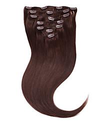 "neitsi® 20 ""7pcs establecen 100% de clip remy real en extensiones de cabello humano virgen ombre pelo recto 2 #"