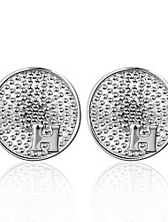 lureme® Fashion Style Silver Plated Rund Shape Stud Earrings