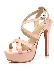 Women's Shoes Stiletto Heels/Platform/Sling back/Open Toe Sandals/Party & Evening/DressBlack/Pink