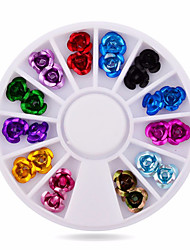 -Finger-Nail Schmuck-Acryl-1wheel rose nail decorationsStück -6cm wheelcm