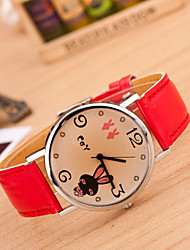 Women's Round Dial Case Leather Watch Brand Fashion Quartz Watch Sport Watch Cool Watches Unique Watches