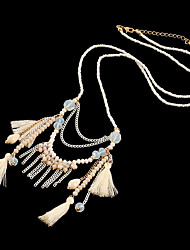 D Exceed Handcraft Multi Layered Colourful Beaded Charms Tassel Pendant Necklaces For Woman Gifts
