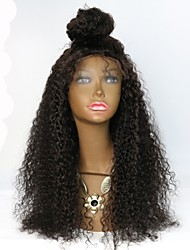 Curly Hair Mongolian Virgin Glueless Lace Wig With Baby Hair Bleached Knots for Black Women Jerry Curly Lace Front Wig