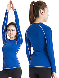 Heigh Elastic Sports Training PRO Womans Tight Running Breathable Fitness Yoga Sweat Quick-drying T-Shirt