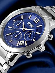Pánské Náramkové hodinky Křemenný Kalendář Voděodolné Nerez Kapela Luxusní Stříbro