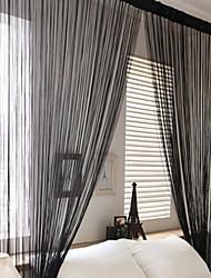 W100cm*L200cm,One Panel Rod pocket Multicolour Line String Curtains Tassel Scarf