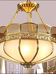 The New Classical Copper Semi Ceiling lamp Copper Aisle Porch