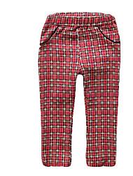 Pantalones Chica de-Todas las Temporadas-Algodón-Rojo