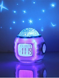 Star Sky Digital Led Projection Projector Alarm Clock Calendar Thermometer